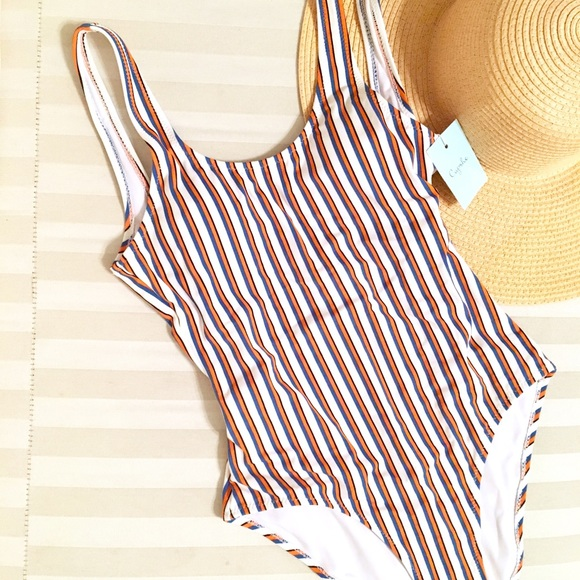 88d687d651 Cupshe Swim | Follow My Heart Stripe Onepiece Suit | Poshmark